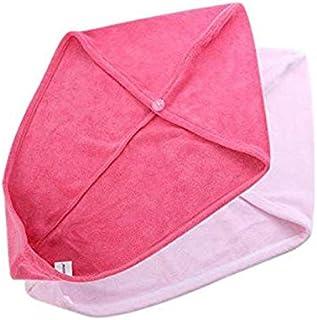 2PCS/SET Bathroom Super Absorbent Quick-drying Microfiber Bath Towel Hair Dry Cap Salon Towel