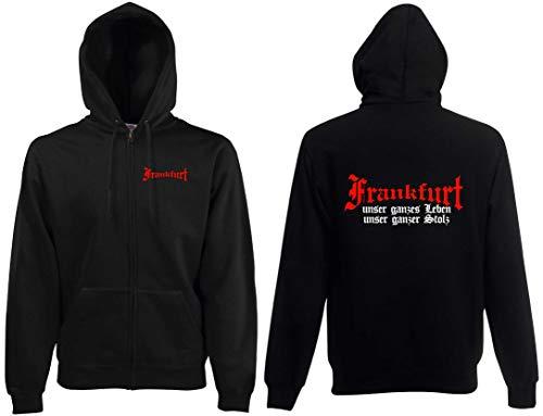 Frankfurt Ultras Kapuzenjacke Herren Ultras unser Leben unser Stolz