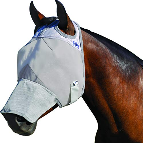 Cashel Crusader Horse Fly Mask, Long Nose, Horse
