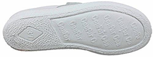 Postigo 1 -Zapato Sanitario Anatómico Velcro Piel Unisex (37 EU, Blanco)