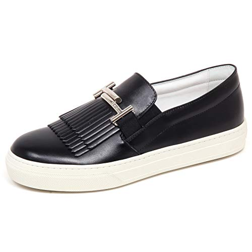 F6558 Sneaker Donna Black Tod'S Scarpe frangia Slip on Shoe Woman [40]