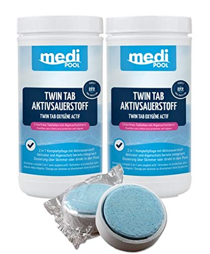 POWERHAUS24 mediPOOL 2 x Twin Tab Aktivsauerstoff, 2 x 1 kg