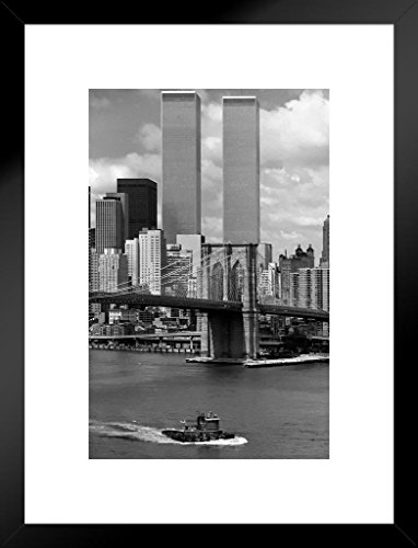 Poster Foundry World Trade Center New York City 1976 Photo Art Print Matted Framed Wall Art 20x26 inch