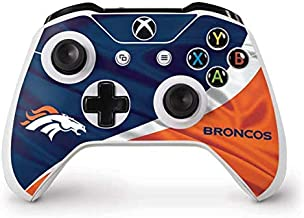 Skinit Decal Gaming Skin for Xbox One S Controller - Officially Licensed NFL Denver Broncos Design