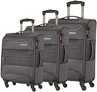 American Tourister Luggage Trolley Bags For Unisex, 3 Pieces - Grey