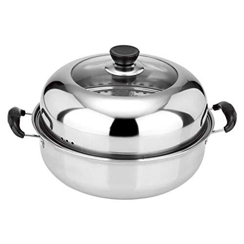 WZHZJ Vapor sartenes de Acero Inoxidable, Nivel sartén Antiadherente for cocinar Vapores, Domésticos de Cocina Vapor del alimento