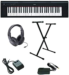 Yamaha Piaggero NP-12 Ultra-Premium Keyboard Package with He