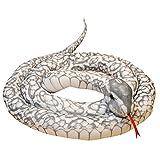 mianhua Simulación de pitón de Peluche para niños, Peluche de Serpiente Suave, Peluche, Safari, Animal de la Selva, Felpa, Ideal para el Primer cumpleaños del niño recién Nacido