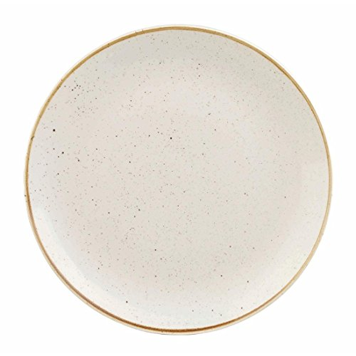 Churchill Stonecast Round Coupe Plate Barley White 165mm (Pack of 12) - [DK520]