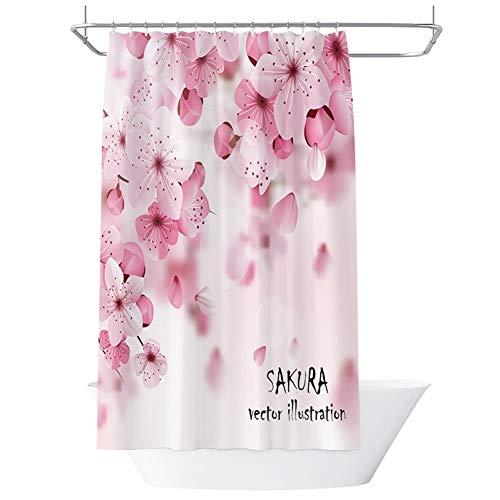 & accessoires voor de badkamer, douchegordijn, 3D-kubusvorm, waterbestendig, schimmelbestendig, voor badkamer, gordijn, verwarming, mooi huis, binnendecoratie, 100% polyester stof 180X200cm