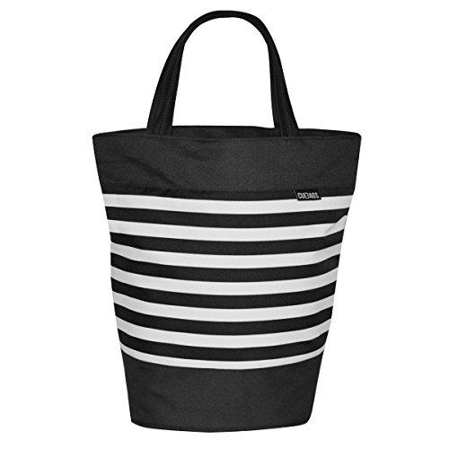 C-BAGS SHOPPER SAILOR Gepäckträger Fahrradtasche Tasche verschiedene Muster (black)