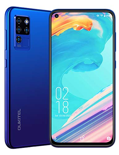OUKITEL C21 Unlocked Phone, Android 10 Cell Phone 20MP Selfie Smartphone Dual Sim Helio P60 6.4'' FHD+ Octa Core 64GB/4GB 4000mAh Mobile Phones Face ID + Fingerprint International Version