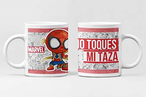 Desconocido Taza Spiderman. Taza cerámica Superhéroes Marvel. No toques mi Taza