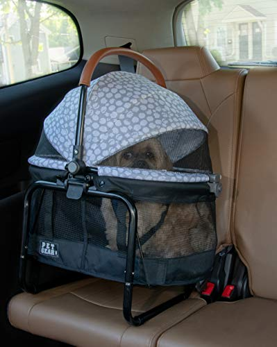 Pet Gear View 360 Pet Stroller Travel System 3-in-1 Carrier, Booster Seat and Stroller with Push Button Entry, Silver Pearl (PG8140NZSP) 2