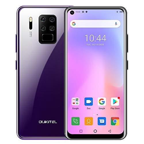 OUKITEL C18 PRO (2020) Smartphone ohne Vertrag, 4G Helio P25 6,55 Zoll Smartphone, 4GB RAM+64GB ROM, 4000mAh Akku, 16MP+8MP+5MP Kamera, Dual SIM Handy Android 9.0, WLAN 5G, Fingerabdruck, Face ID