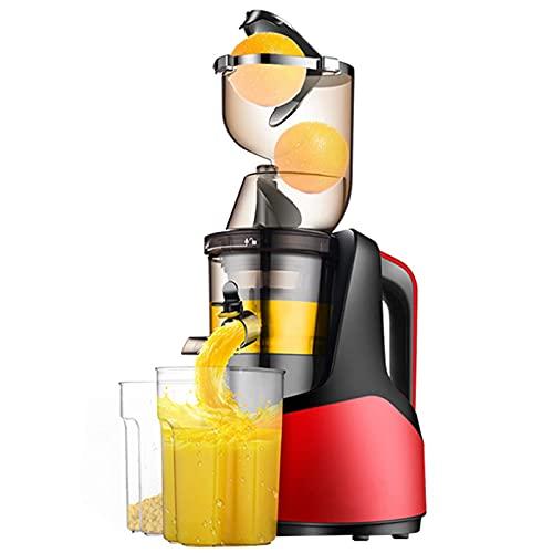 Exprimidor, exprimidor de mascar de velocidad lenta presionado en frío multifunción, rendimiento de jugo al 96%, motor silencioso, función inversa, sin BPA, fácil de limpiar, para frutas y verduras