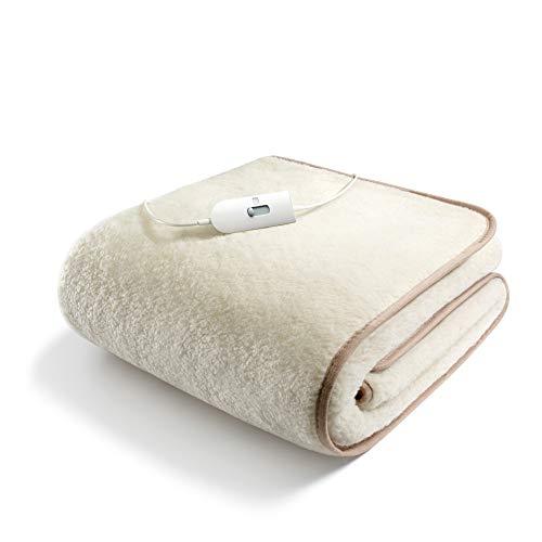 SGR Heizdecke, für Doppelbett, Plüsch 50% Wolle Einzel
