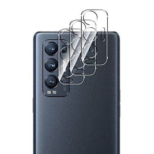 Aerku Kamera Panzerglas Schutzfolie für Oppo Find X3 Neo 5G, [Vollständige Abdeckung] Kamera Panzerglasfolie Bildschirmfolie [3 Stück] 9H Festigkeit HD Transparenz Anti-Kratzen Protector