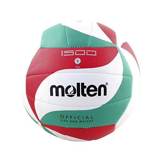 molten Volleyball V5m1500, Weiß/Grün/Rot, 5