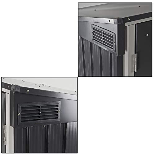 Tepro Mülltonnenbox, anthrazit / weiß, 154.2 x 96 x 130.5 cm - 8