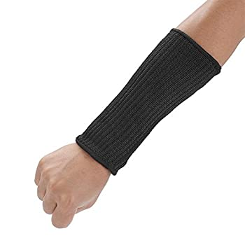 Akozon Cut Resistant Sleeves 1 Pair Guard Prevent Scrapes Scratches Skin Irritations Biting Proof Safety UV-Protection Anti Cut Arm Cover for Men Woman  22cm