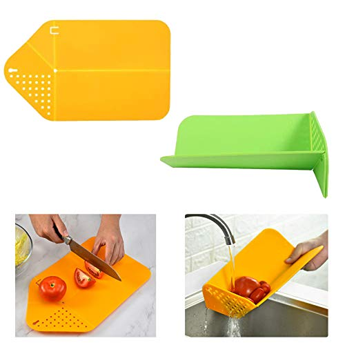 Tabla de Cortar Cocina Plástico Tabla de Cortar Plegable Mu