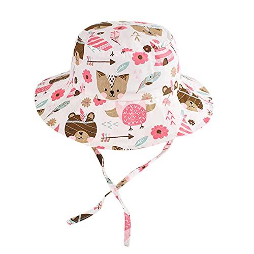 OPAKY Sombrero para el sol, cubo ajustable, para bebé, niña, niño, bebé, estrella, sombrero de verano, bonito diseño de pescador multicolor 1 mes