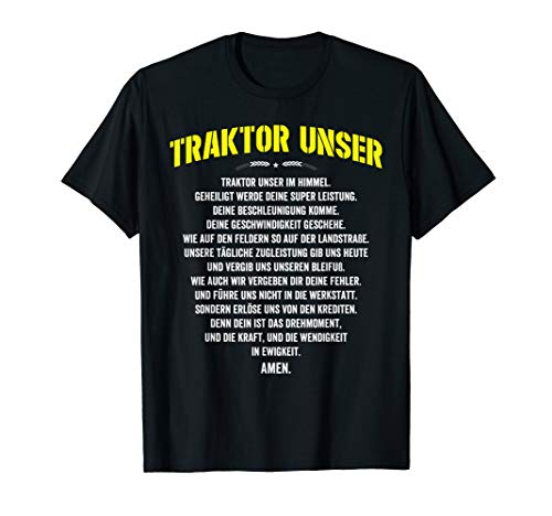 Traktor Unser Bauer, Landwirt Spruch T-Shirt