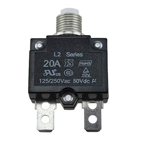MagiDeal 4xPcs Thermal Overload Circuit Breaker Disjoncteur Thermal Overload Disjoncteur 125-250VAC 50VDC 20A 25A