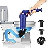 Drain blaster air Powered plunger gun, High Pressure Powerful drain clog remover sink Plunger Opener cleaner...