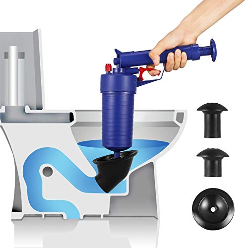 Story Store air Powered plunger gun for Bath Toilets