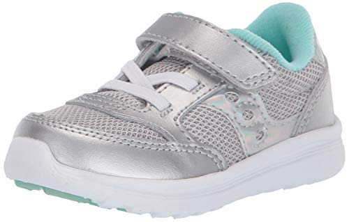 Product Image of the Saucony girls Baby Jazz Lite Sneaker Silver Metallic 4 medium US