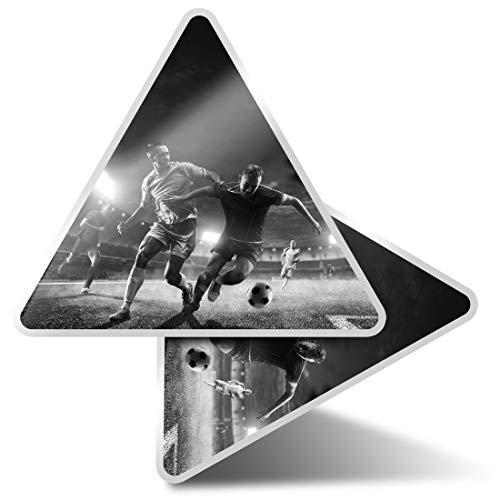 2 pegatinas triangulares de 7,5 cm – BW – Juego de jugadores de fútbol profesional calcomanías divertidas para portátiles, tabletas, equipaje, reserva de chatarra, neveras #42886