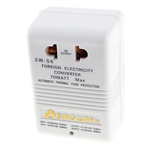 AC 220V / 240V a 100V / 120V 70W Paso Arriba Abajo Dual Power convertidor de Voltaje del Transformador Enchufe de EE.UU.