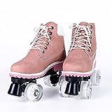 YUFENGDING Patins à roulettes pour Filles et garçons pour Les garçons et Les Filles Unisexes intérieures et extérieures White wheel-C-36