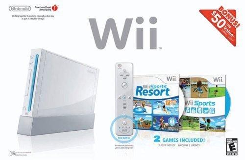 Wii Bundle with Wii Sports & Wii Sports Resort - White (Renewed)