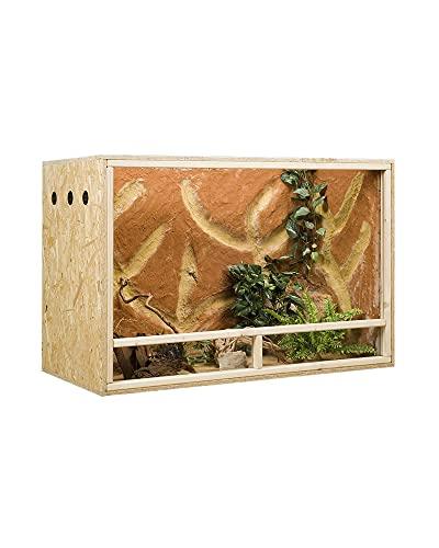 OSB-Terrarium, Holzterrarium 120 x 60 x 80 cm mit Seitenbelüftung