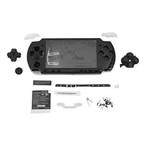 Zerone Carcasa Dura para PSP 2000, Protector de Pantalla Dura Carcasa Completa Kit de Piezas de reparación para la Consola Sony PSP 2000 (Negro)