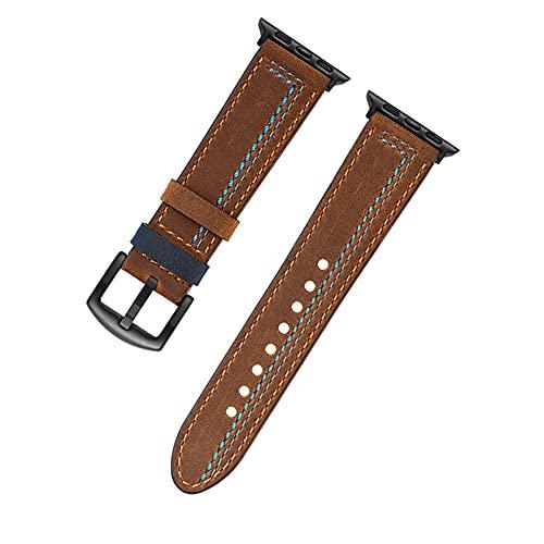 Reloj de bolsillo Mira la correa de la banda compatible con la serie de manzana de la banda de manzana, 6 5 4 3 2 1 44mm 42mm 40 mm 38mm reloj de reloj de cuero correa de cuero loco de cuero accesorio