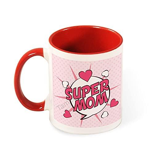 Super Mom- Regalos para padres para mujeres y hombres – Divertida idea de regalo para mamá papá, marido y esposa – Taza de té divertida de 11 oz taza de café
