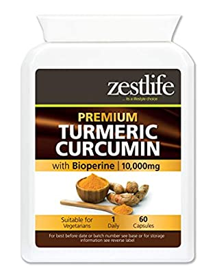 Zestlife Turmeric 90 Capsules 500mg - A Strong Anti-oxidant / Helps to reduce inflammation in the body / Premium GMP Supplement. * On Special Offer*