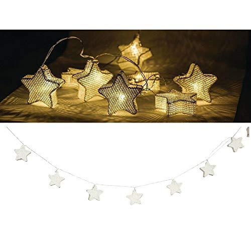 EQT-TEC Lichterkette 10 LED 2.1 m Licht Dekoration Sterne Lichtschlauch Fotoshooting Deko Lampe