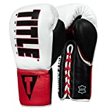 Title Boxing Enforcer Official Pro Fight Gloves, White/Red/Black, 8 oz