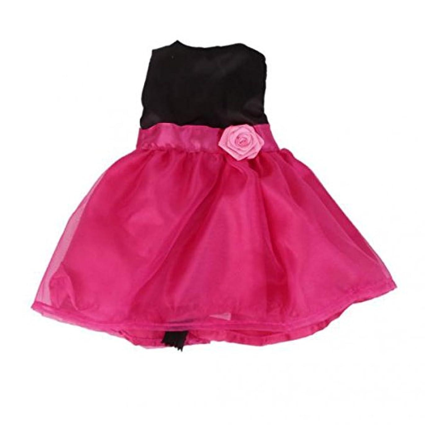 せっかちダウンタウンとは異なり2件 18インチ アメリカンガール人形用 ふわふわ ベルト付き ドレス 飾り 黒とレッド
