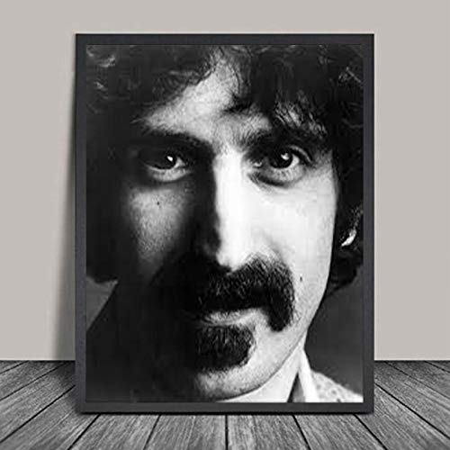 RCANLGZ Frank Zappa Poster Print Rock Music Vintage Photo Singer Black White Photo Wall Pictures for Living Room Decor 40X50Cm