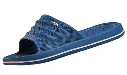 X-Sport Herren Slip On Pool Beach Sliders Sandalen Blau, Blau - blau - Größe: 41.5 EU