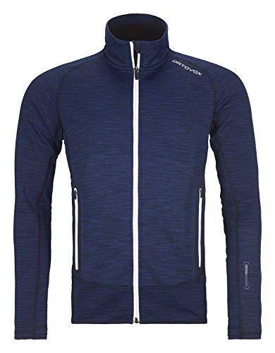 ORTOVOX Herren Fleece Space Dyed Jacke, Dark Navy Blend, S