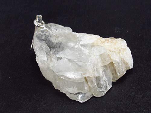 The Russian Stone - Colgante de Plata de Cristal de petalita Transparente de Brasil – 3,5 cm