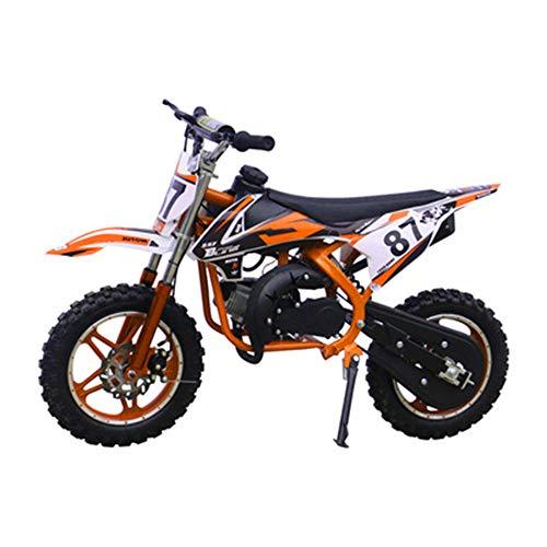 GYZD Dirt Bike 49cc Gas Power Mini Dirt Bike Pit Bike Transmisión Completamente automática,Naranja