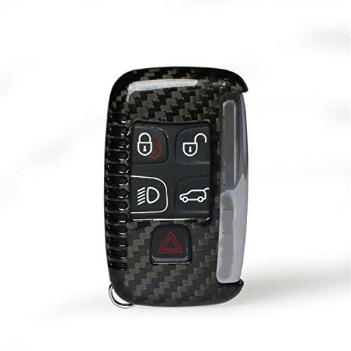 M.JVisun Funda protectora de fibra de carbono auténtica para llave de coche Jaguar XE XF XJ F-PACE